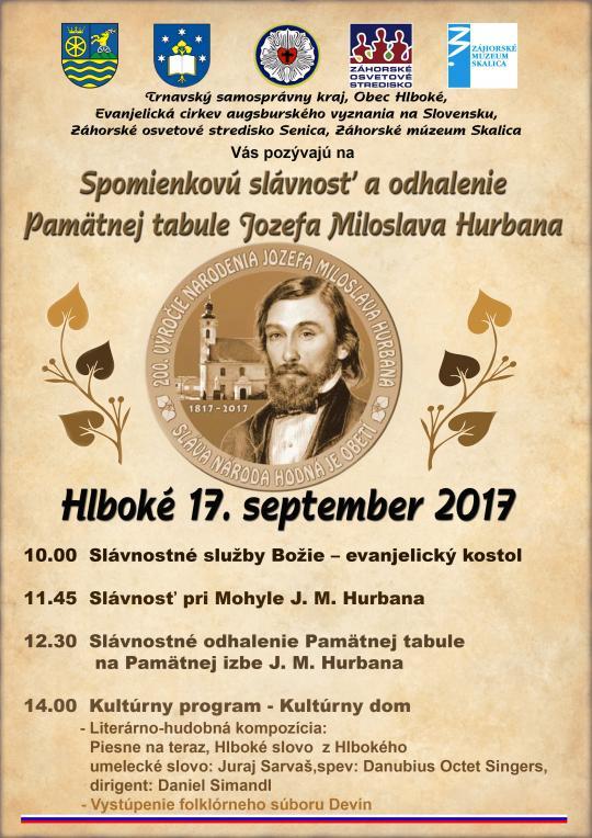 73a84ecdb Plagát - Spomienkové oslavy 200. výročia narodenia J.M. Hurbana.jpg